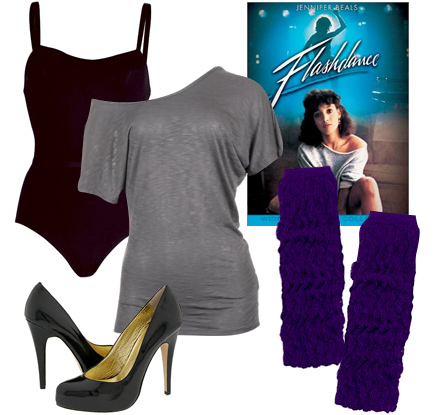 80s flashdance costume