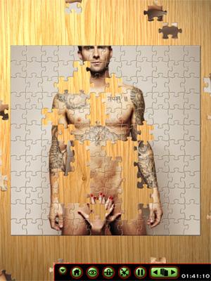 adam levine naked puzzle