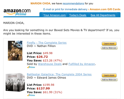 amazon suggestions