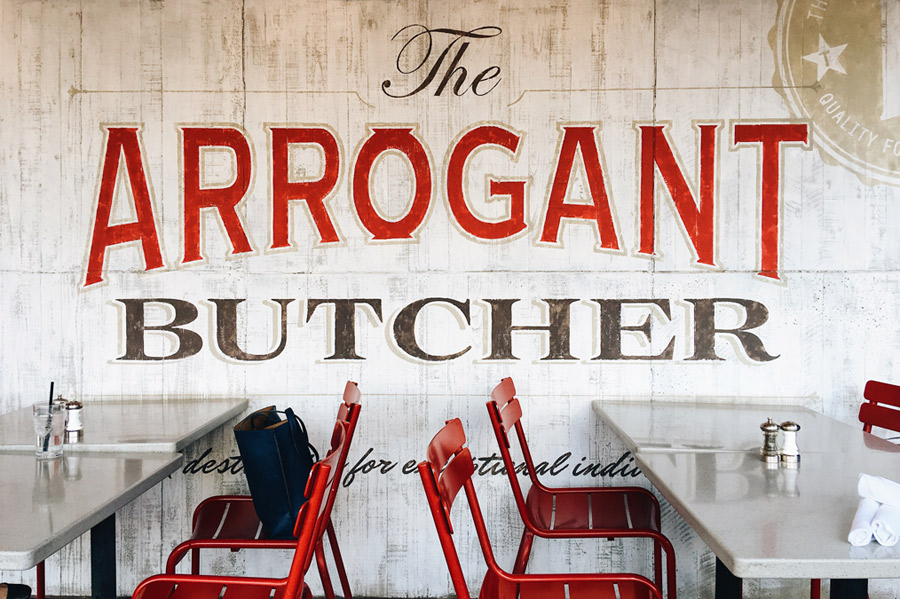 arrogant butcher