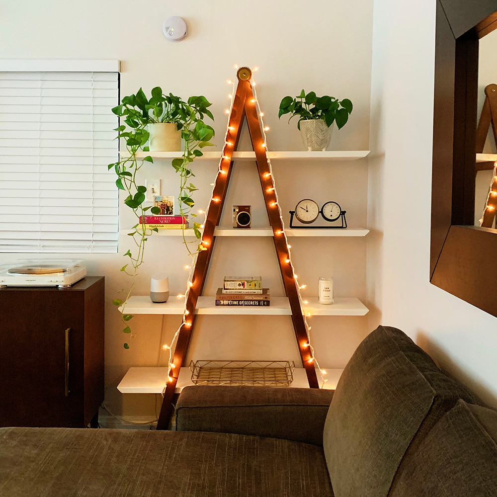 article caliper shelf christmas lights