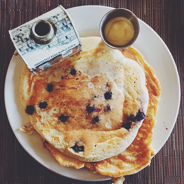 blueberry ricotta pancakes - BLD - los angeles