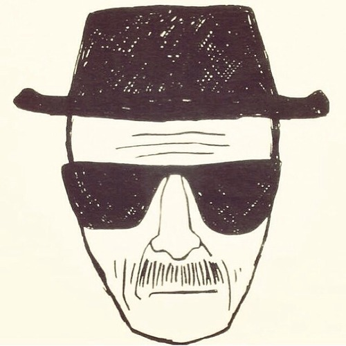 breaking bad hiesenberg drawing