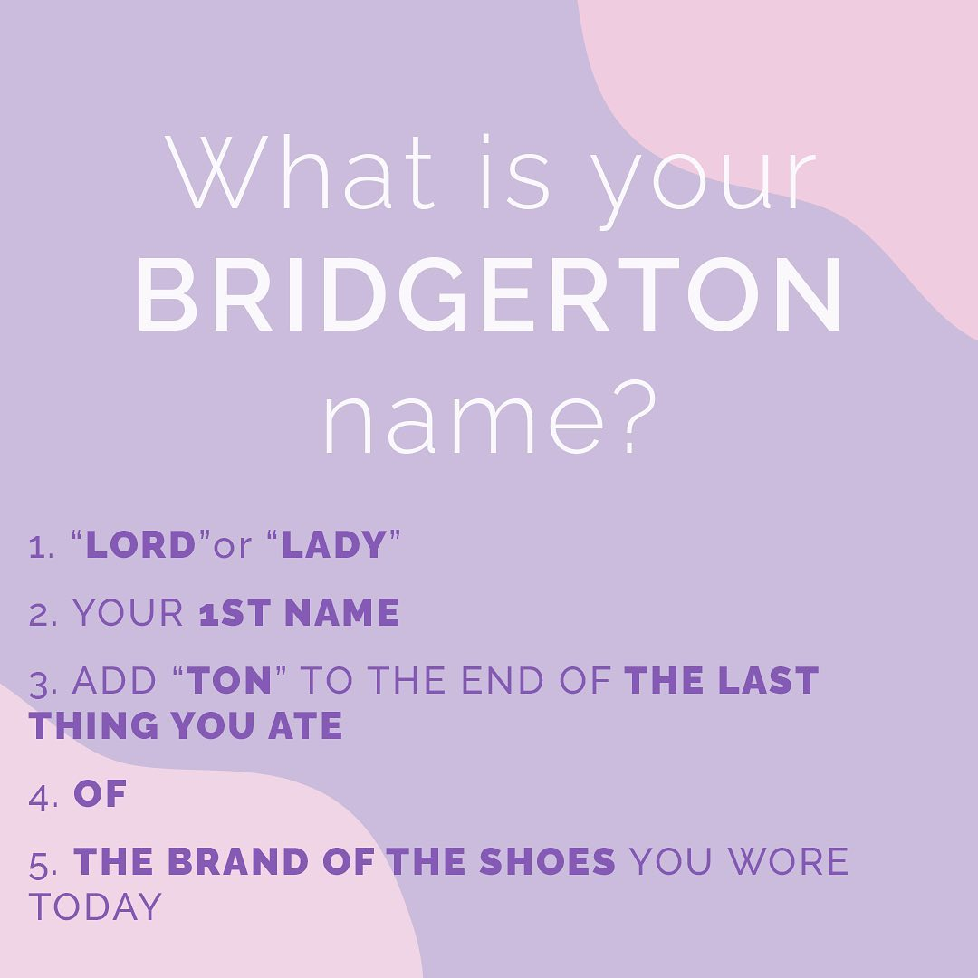 bridgerton name meme
