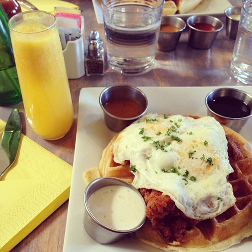 bru's wiffle - a waffle joint - chicken and waffles