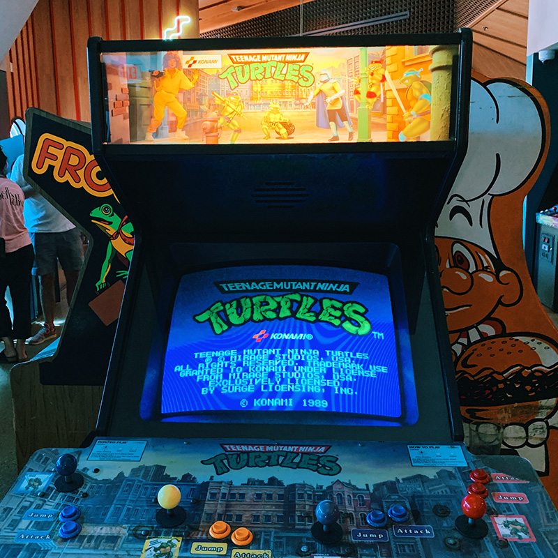 button mash - ninja turtles - arcade