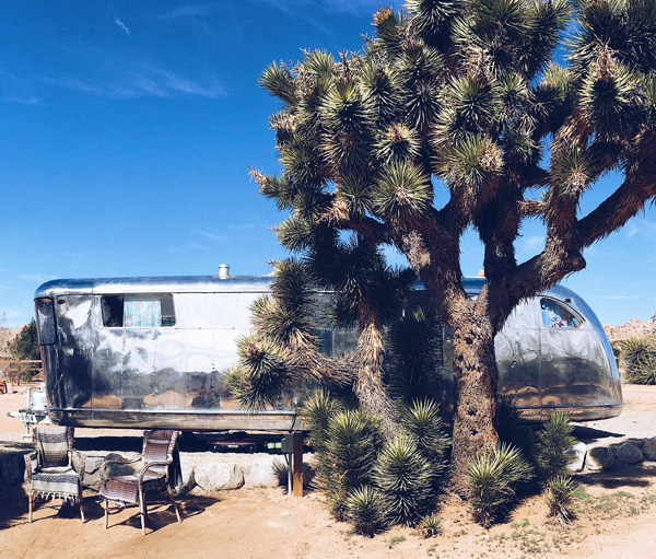 camp temenos - pioneertown - vintage trailer - airbnb - 1950 spartan mansion