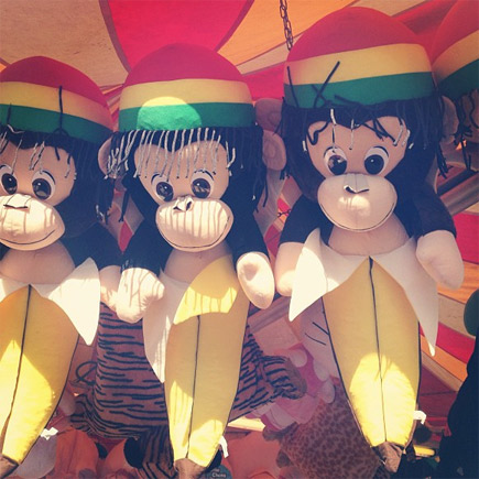 carnival monkey ring toss