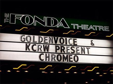 chromeo @ the fonda