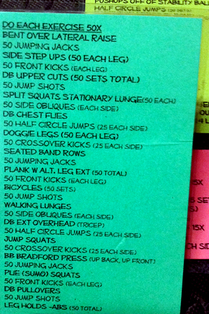 circuit training 50x