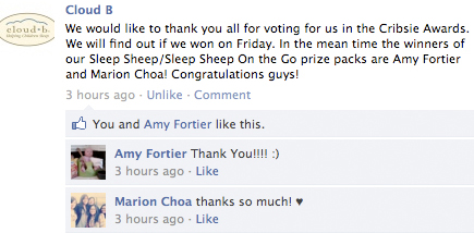 cloud b sleep sheep facebook winner