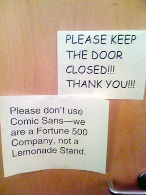 comic sans lemonade stand