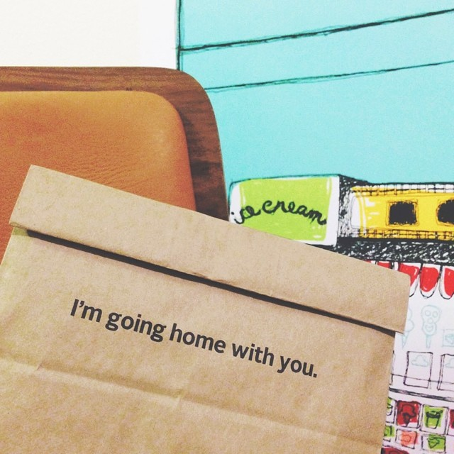 i'm going home with you - cpk takeout doggy bag