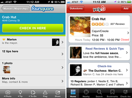crab hut check ins foursquare yelp
