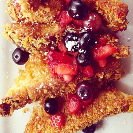 crunchy french toast - blu jam cafe