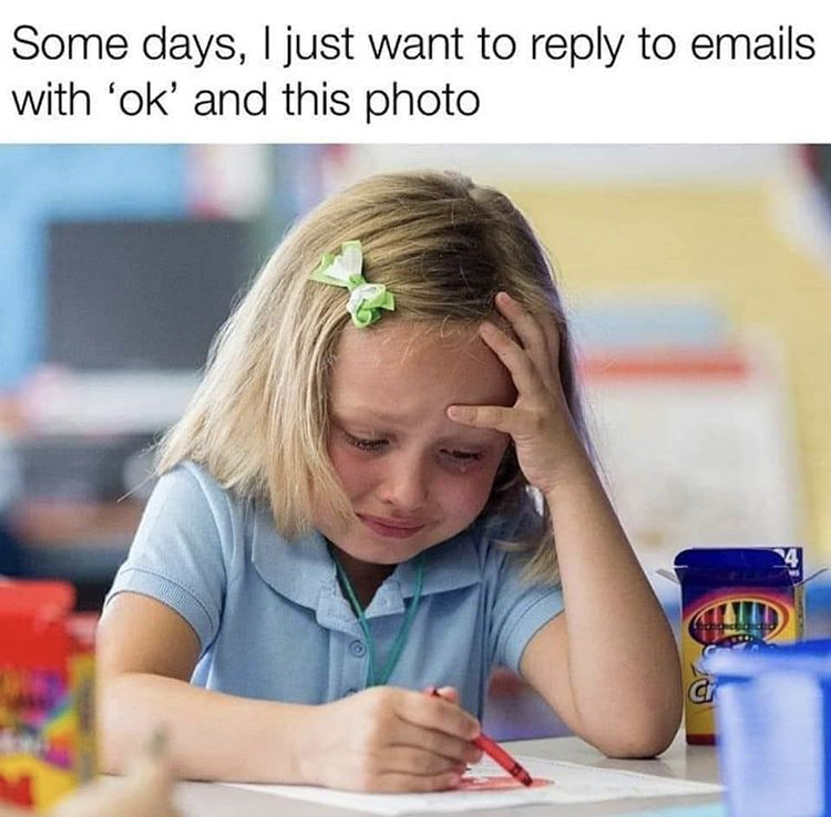 crying email meme