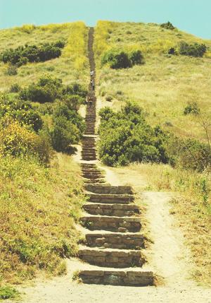 culver city stairs - baldwin hills scenic overlook - los angeles