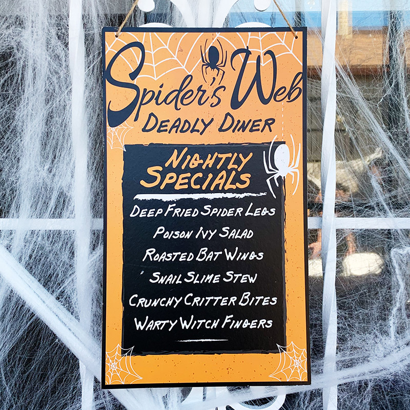deadly diner halloween sign