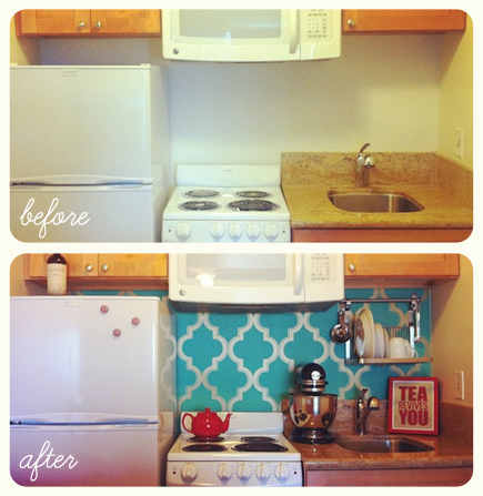 DIY kitchen makeover remodel
