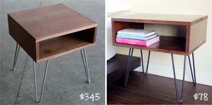 DIY Mid-Century Modern Side Table