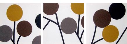 fabric triptych