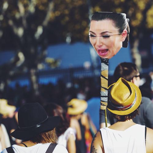 fyf fest 2014 kim kardashian ugly cry face