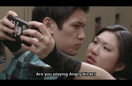 glee angry birds tina mike chang