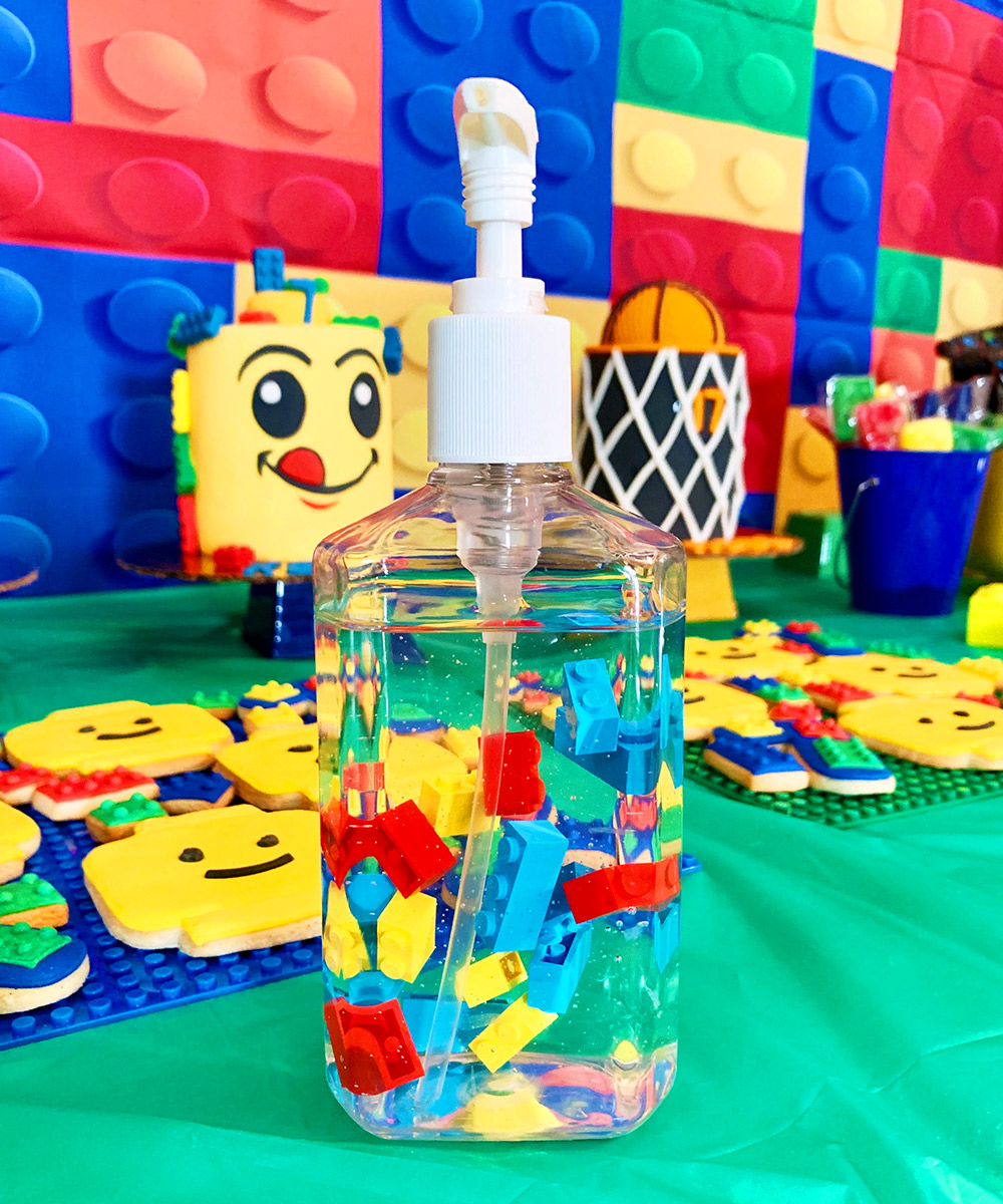 hand sanitizer legos