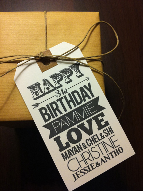 happy birthday gift tag craft paper twine diy