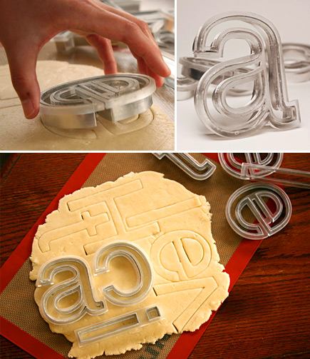 helvetica cookie cutters