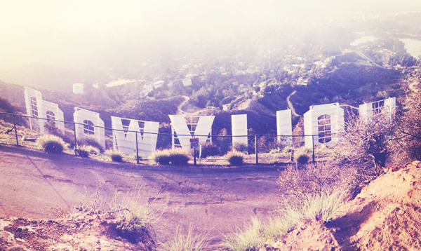 hollywood sign @ hollyridge trail