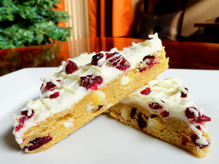 homemade cranberry bliss bars starbucks