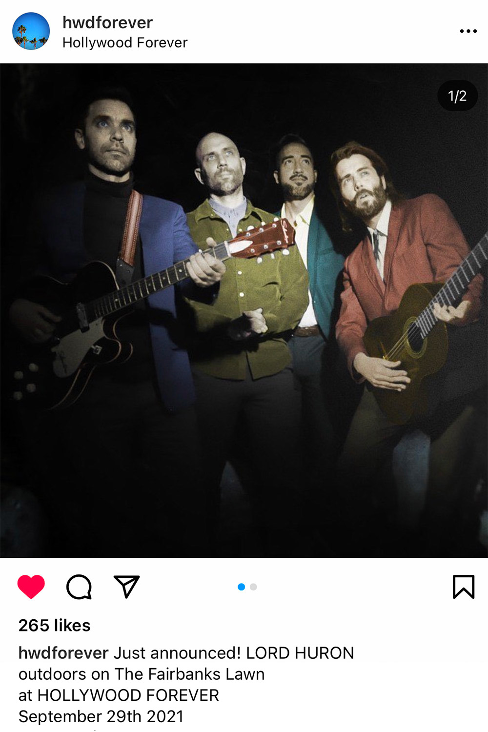 lord huron at hollywood forever cemetery