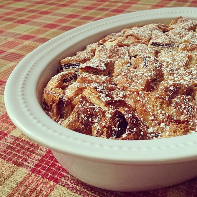 chocolate croissant bread pudding - barefoot contessa - ina garten recipe