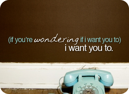 if you're wondering if i want you to, i want you to