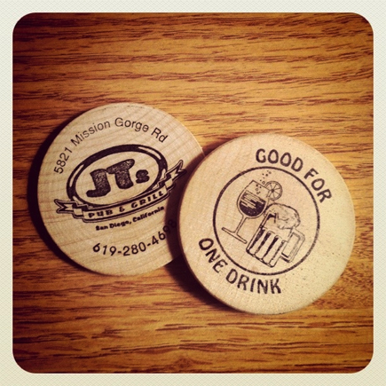 jt's pub and grill drink tokens