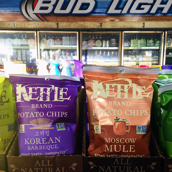 kettle brand potato chips - korean barbecue - moscow mule