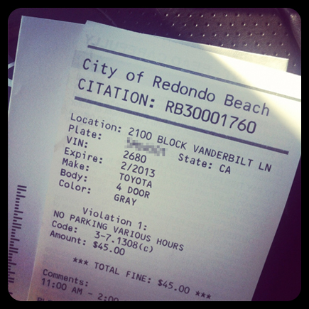 LA parking ticket