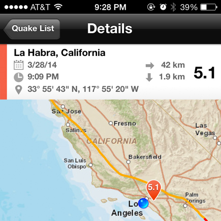 la habra earthquake