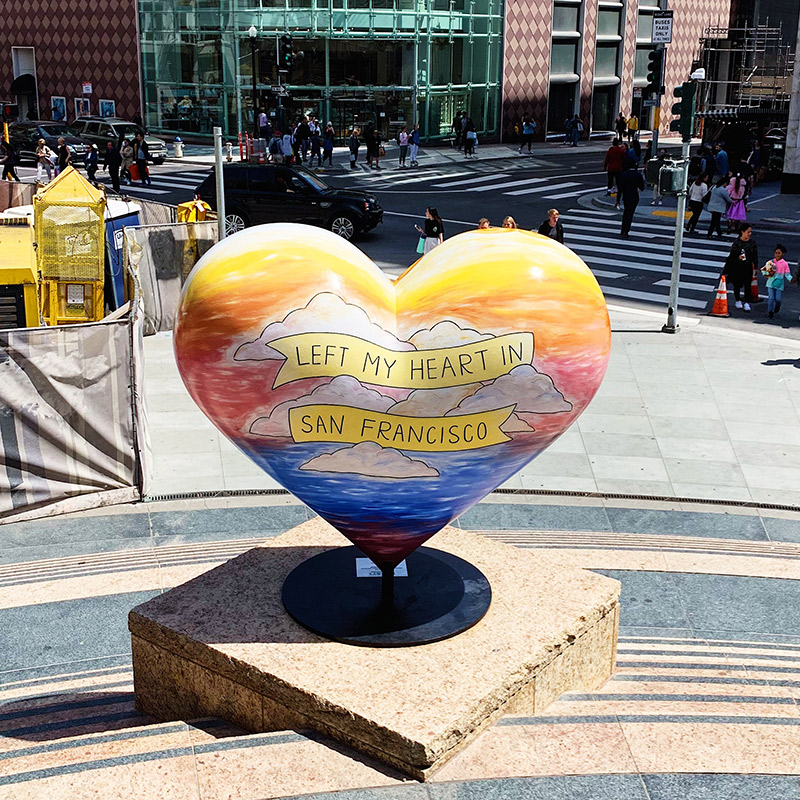 left my heart in san francisco union square