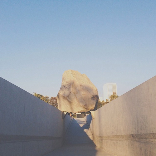 levitated mass - lacma