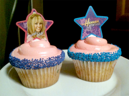 hannah montana cupcakes