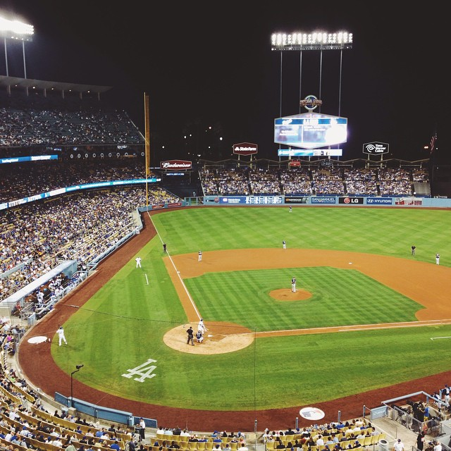 dodgers vs padres @ dodger stadium