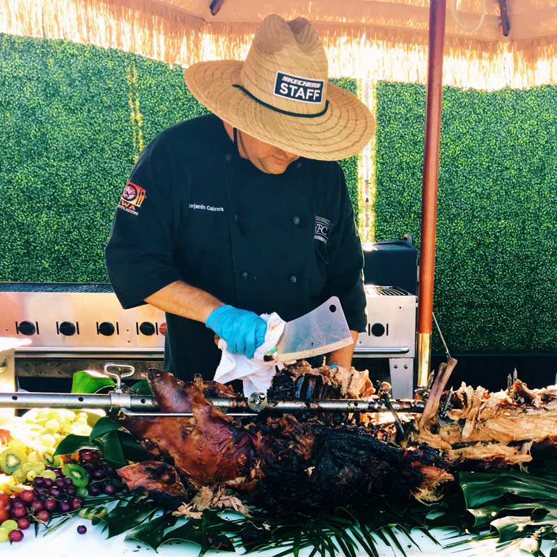 luau roasted pig