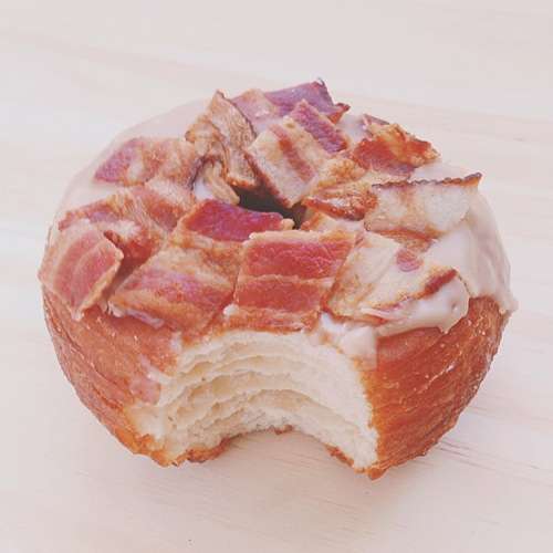 maple bacon cronut - california donuts