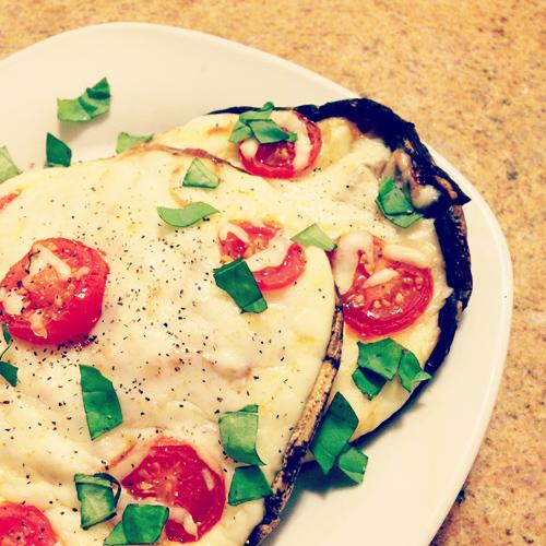 margherita portobello pizza