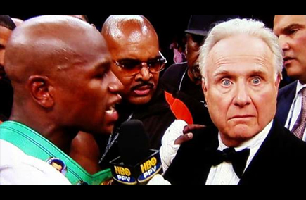 mayweather cheap shot