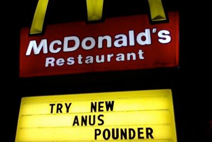 mcdonald's anus pounder