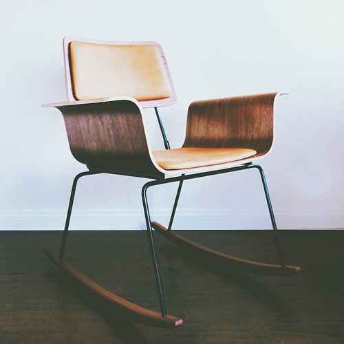 mid-century modern rocking chair furniture robert stojanowski