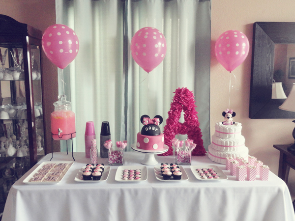 Minnie mouse table decorations ideas car interior design for Baby minnie mouse decoration ideas